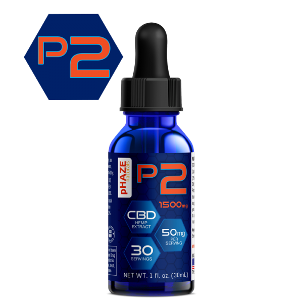 pHAZE Naturals 1500mg Full Spectrum Hemp CBD Oil Tincture (30mL)