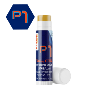 100mg Peppermint CBD Lip Balm (0.15oz) - pHAZE 1