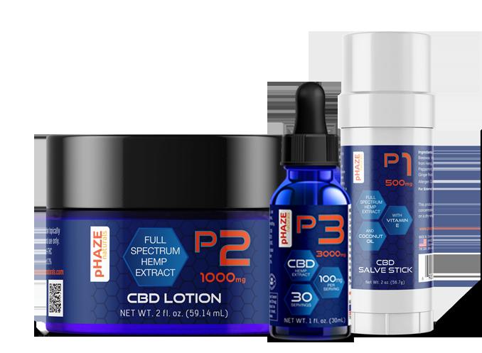 pHAZE Naturals All Natural CBD and Hemp Products